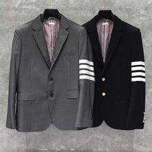 TB THOM BULUO Brand Formal Blazer Men British Casual Suit Men's Jacket Spring Autumn Single Breasted