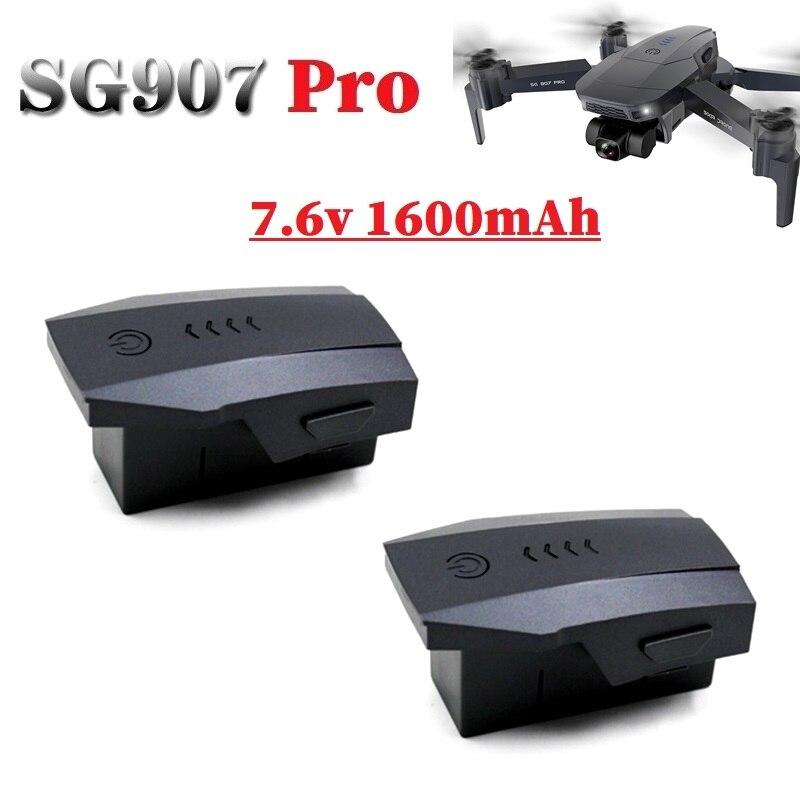 1/2/3Pcs Original 7.6V 1600mAh Lithium Battery For SG907pro SG-907 Pro Drones 5G GPS Smart Anti-Shak