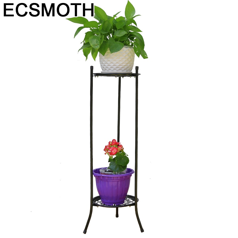 Estandarte de metal raflar planten rek andaime em metallo um ripiani decorador planta estande balcon prateleira flor ferro rack