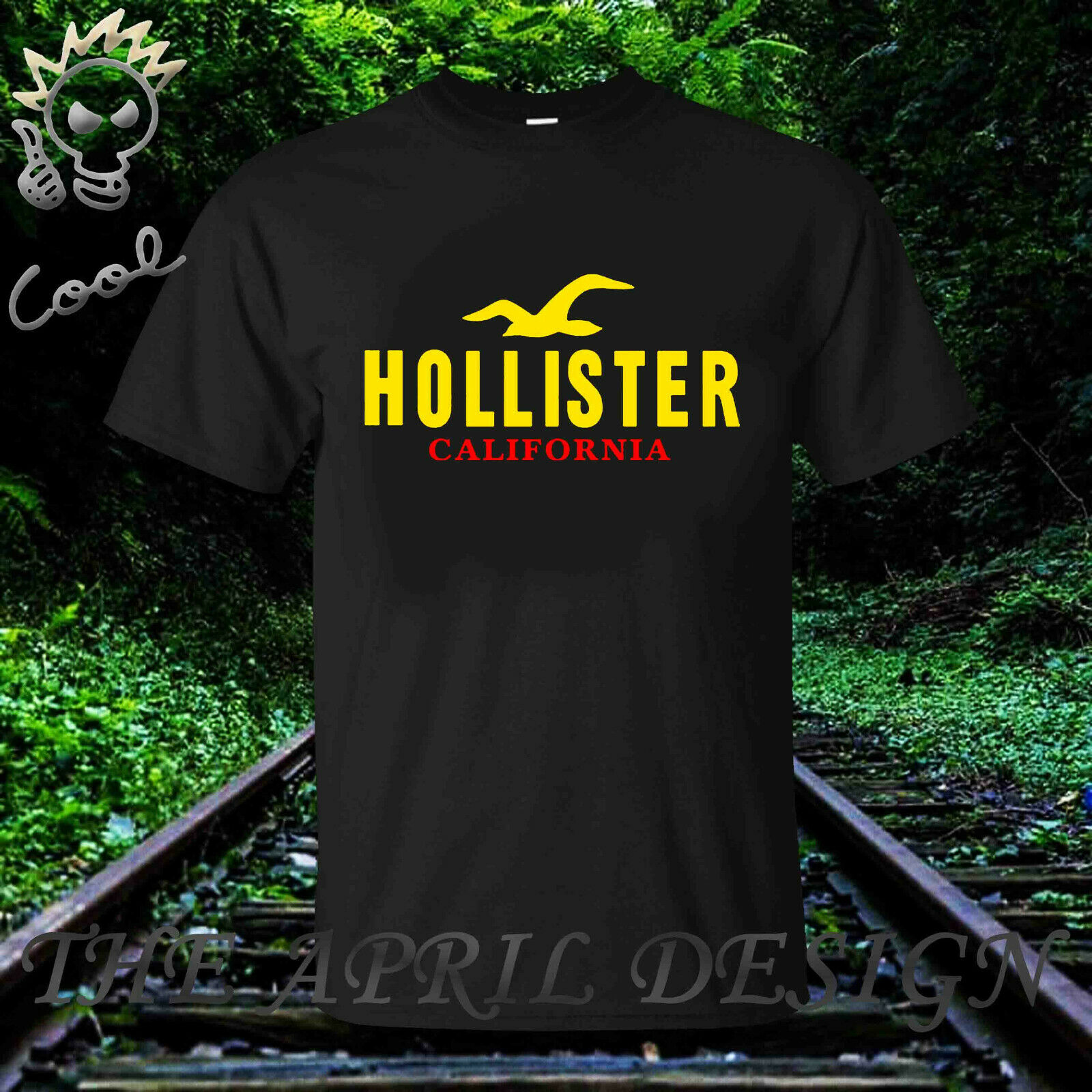 Limitado nuevo HOLISTER CALIFORNIA LOGO hombres camiseta elegir color