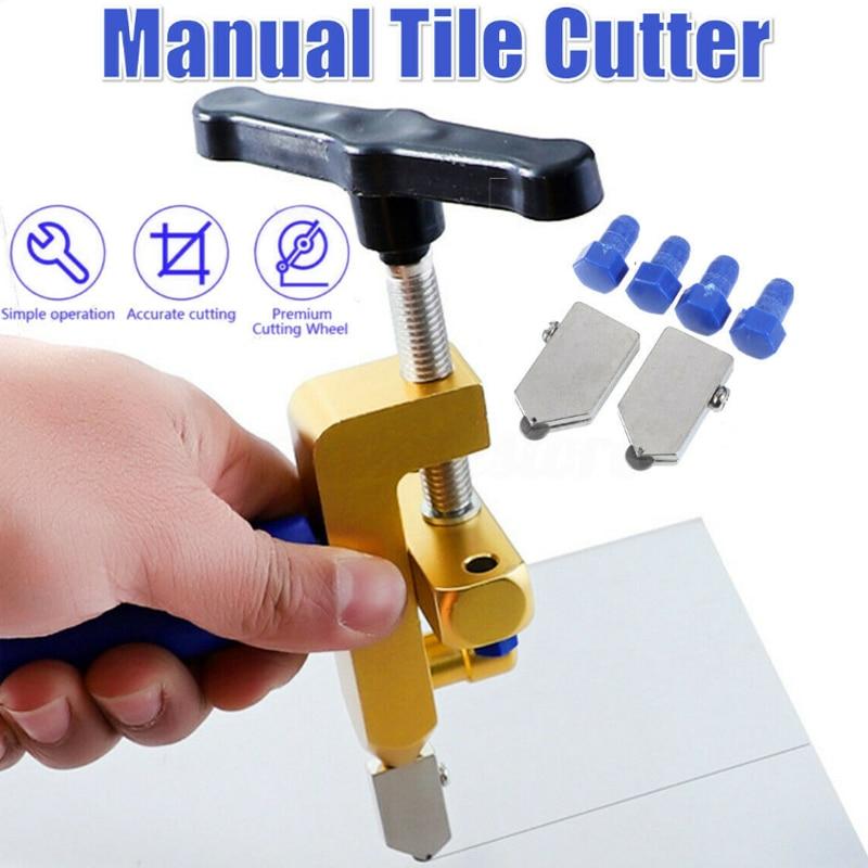 2 em 1 abridor de vidro de telha cerâmica integrado espelho faca abridor de corte multi-função durável cortador de rolo ferramentas manuais portáteis