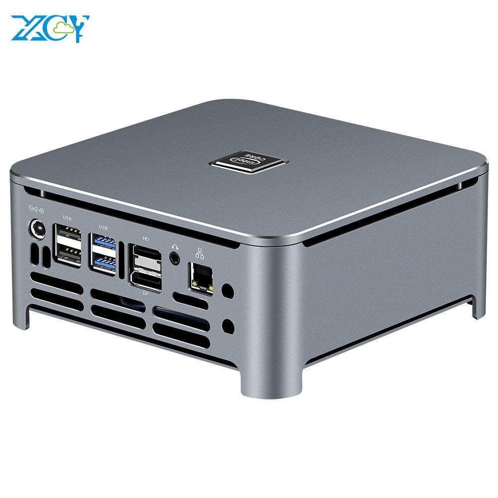 Xcy mini pc 9th gen intel core i7 9750h i5 9400h ddr4 m.2 nvme ssd windows 10 hdmi dp 4k 5 * usb tipo-c 2.4/5.0g wifi bluetooth4.0