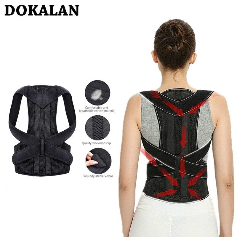 Corrector De Postura ajustable para la Espalda, cinturón De descompresión Lumbar para el hombro, cinturón De Postura para el dolor, 2020