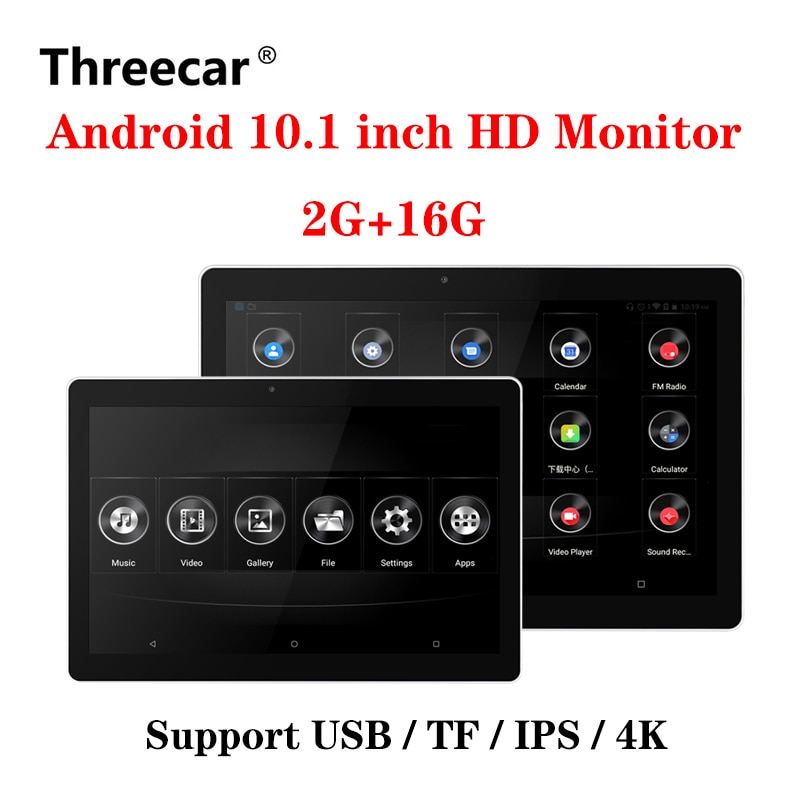 10.1 Inch Android Car Headrest Monitor HD 1080P Video Touch Screen WIFI/Bluetooth/USB/SD//FM MP5 Vid