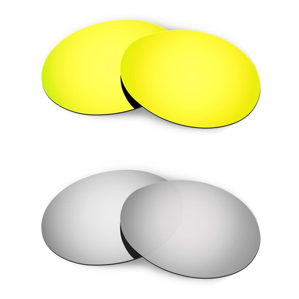 HKUCO ل روميو 1.0 النظارات الشمسية استبدال العدسات المستقطبة 2 أزواج-الذهب والفضة