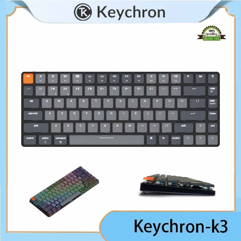 Keychron K3 بلوتوث اللاسلكية رقيقة جدا لوحة المفاتيح الميكانيكية 84-مفتاح غطاء من الألومنيوم لماك شحن مجاني
