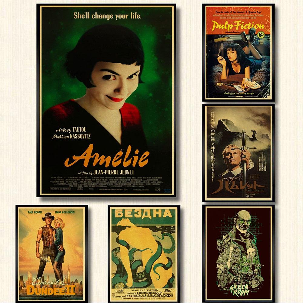 Постер Amelie и постер из целлюлозы Винтажный стиль ретро бумажный постер