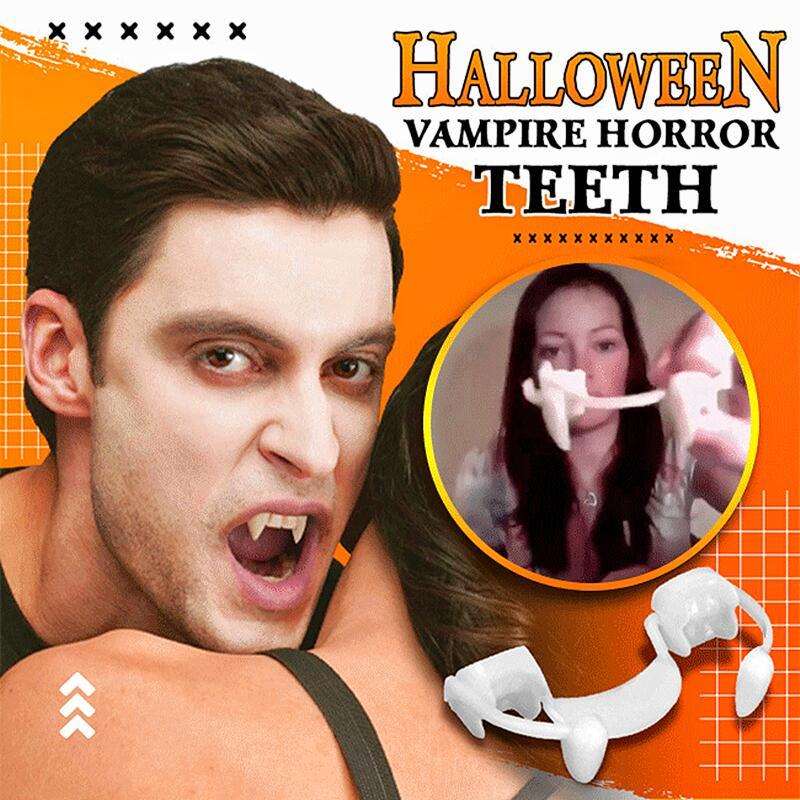 Halloween Decoration Vampire Teeth Retractable Zombie Teeth Safety Soft Silicone Vampire Fangs Horror Bloody Vampire Party Decor vampire teeth with artificial blood gel