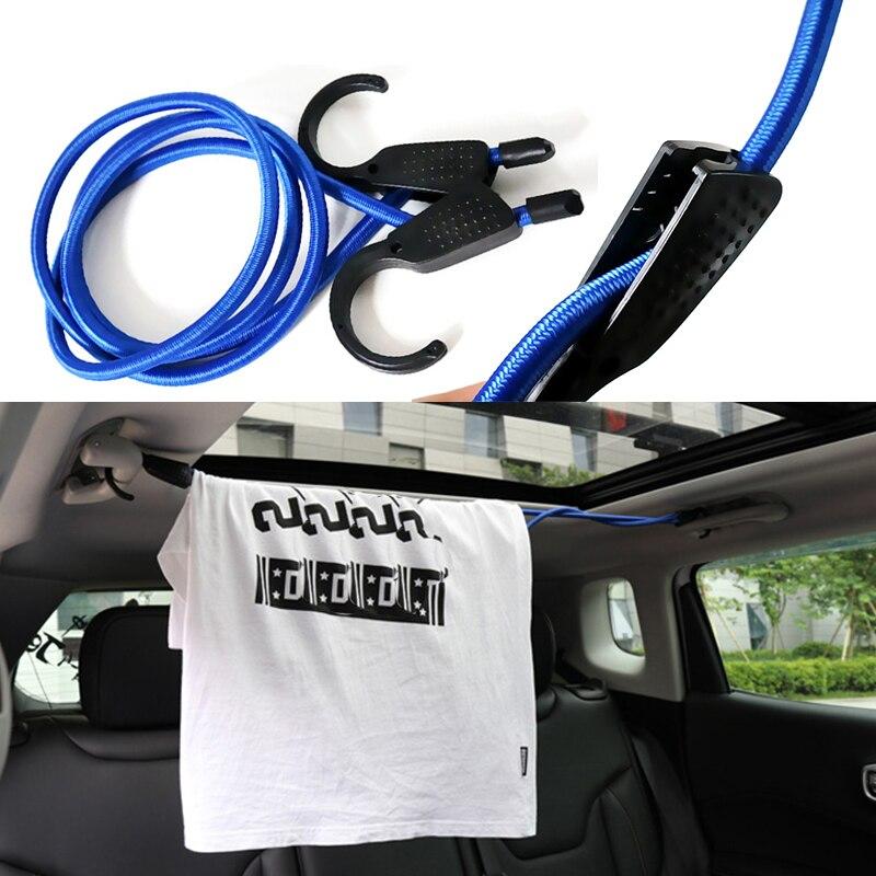 1,5 M coche retráctil cuerda para tendedero elástico ajustable tendedero cinturones cosas Auto perchero para ropa abrigos Accesorios