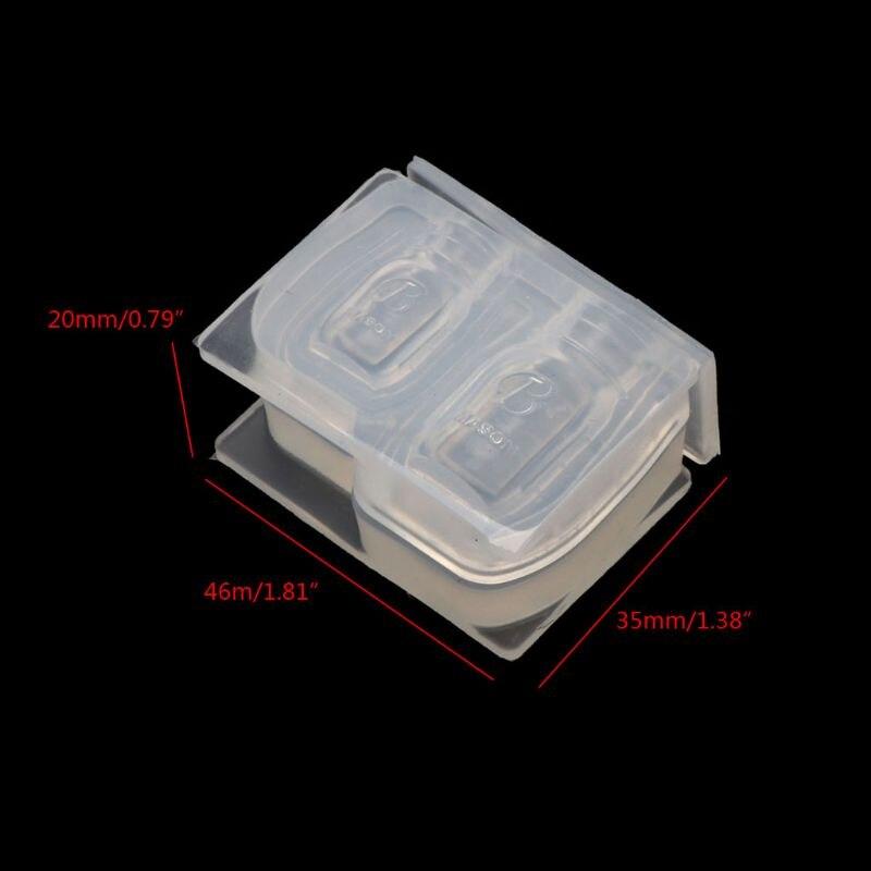 Frasco de miel miniatura molde botella colgante Molde de resina Miniture Food Play silicona molde Y4QB