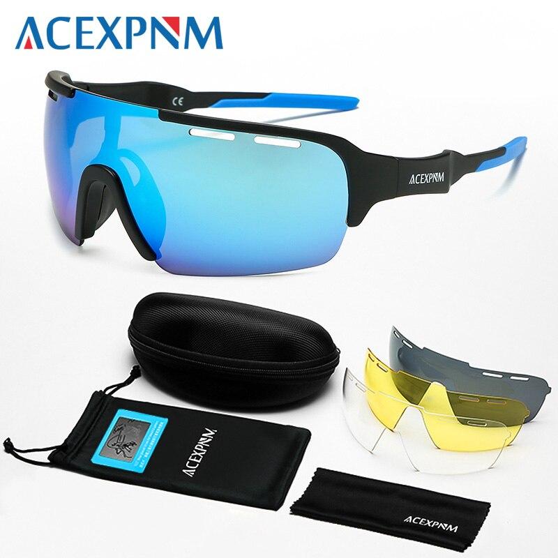 2019 homem polarizado ciclismo óculos de ciclismo mountain bike ciclismo óculos ao ar livre esportes ciclismo óculos uv400 esportes 4 lente