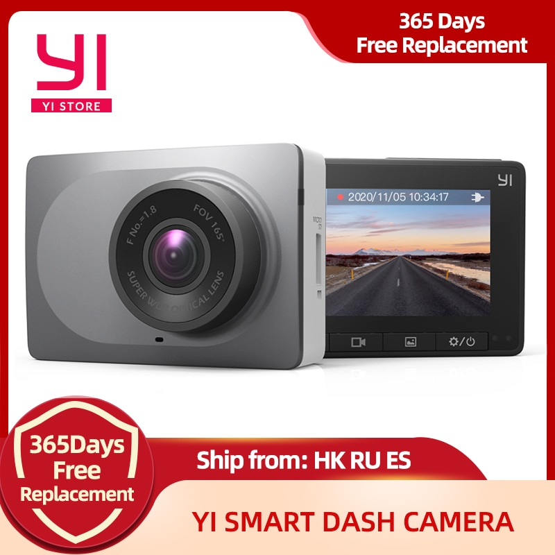 YI Smart Dash Camera 1080P Video Recorder Car DVR WiFi Full HD Cam Night Vision 2.7