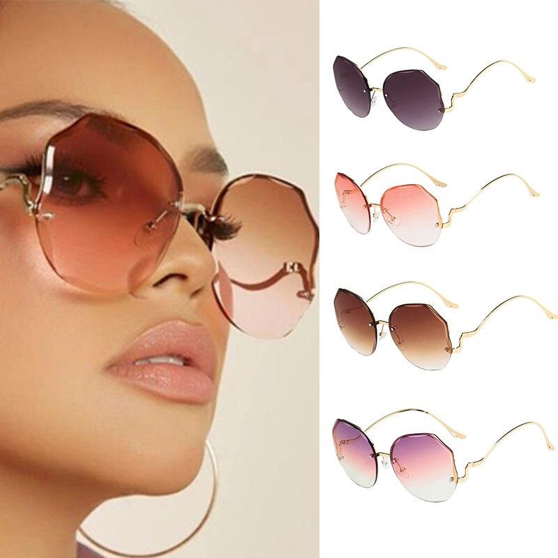 очки солнечные женские Солнцезащитные очки с градиентными линзами женские, модные солнцезащитные аксессуары с металлическими изогнутыми ...