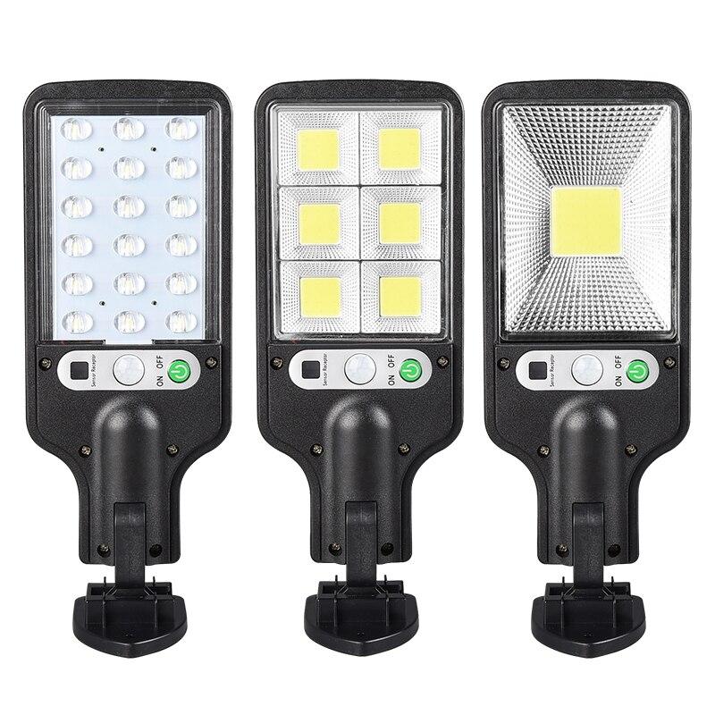 Farola Solar para exteriores, lamparas solares con 3 modos de luz, impermeable, Sensor de movimiento, iluminacion de seguridad
