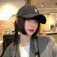 Baseball Cap Women's Korean-Style Face-Looking Small Ins Fashion Brand Summer Black All-Matching Sun