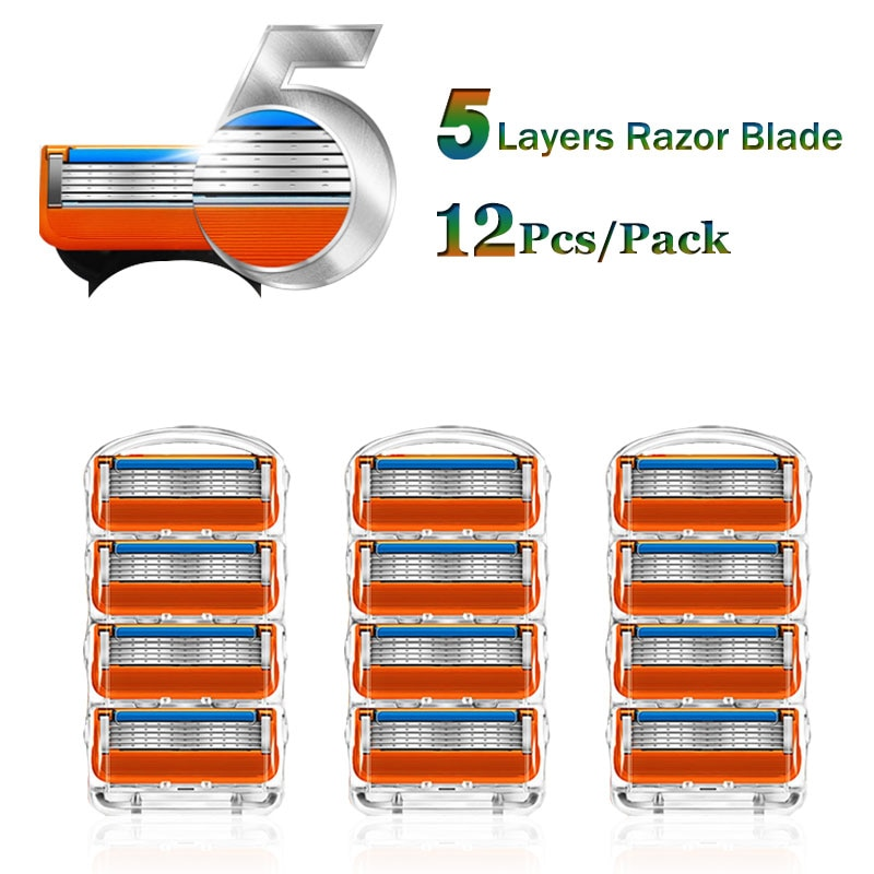 Shaving Razor Blades For Gillette Fusion 5 Face Shaver Cassettes Straight Razor Blade Shave Beard Ca
