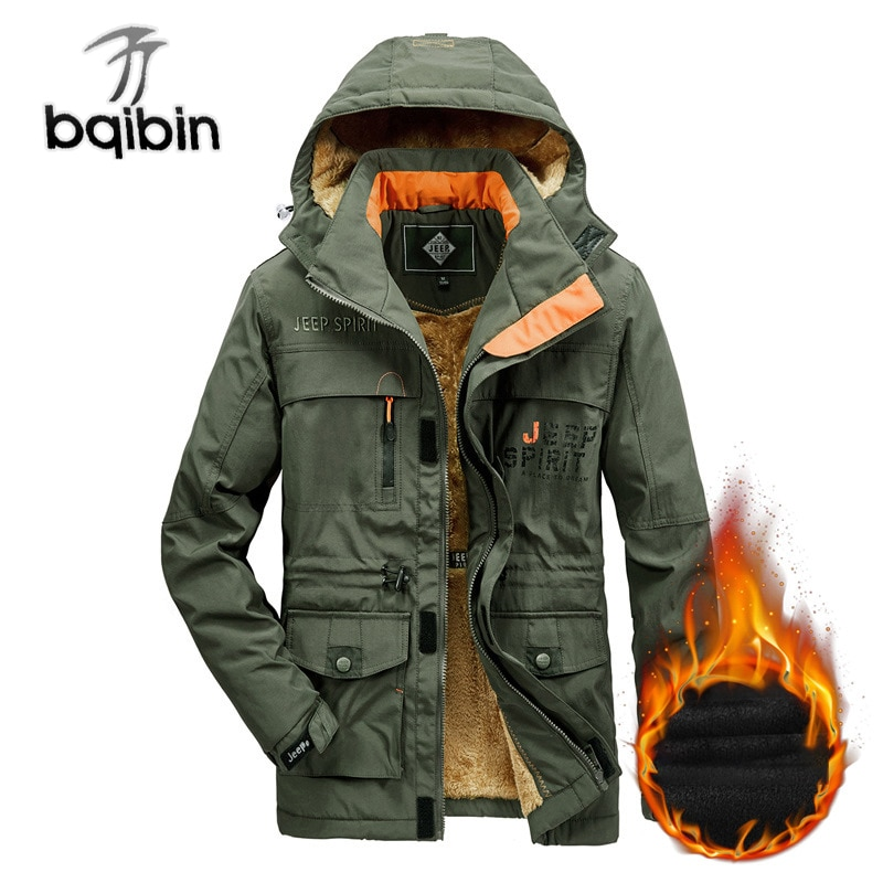 New Winter Jacket Men Thick Warm Hooded Parka Male Army Multi-pocket Wool Liner Windbreaker Bomber Coats Outdoor Chaquetas M-6XL