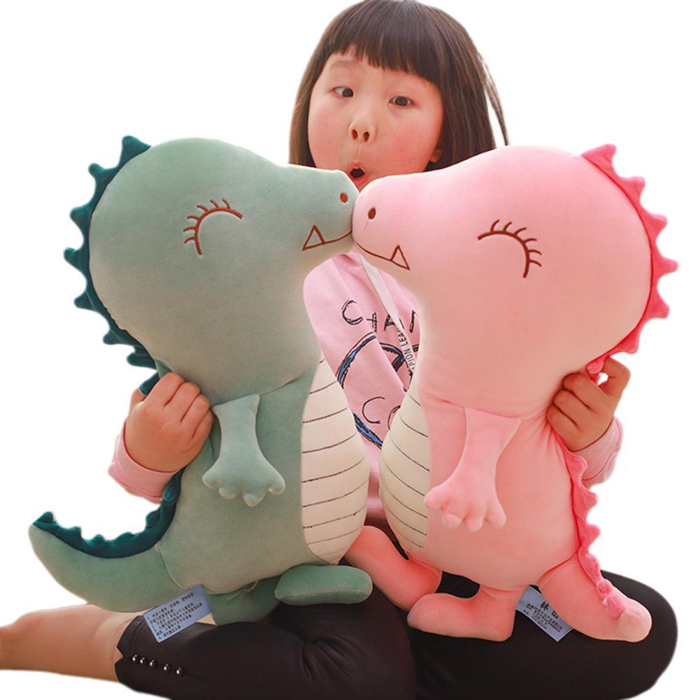 Kuulee juguete dinosaurio de peluche almohada muñeca tira de dormir Linda marioneta Tyrannosaurus King gran regalo de cumpleaños dinosaurios cocodrilo