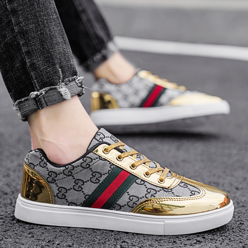 Designer Vulcanized Casual Shoes Men Sneakers Luxury Breathable Walking Flats Shoes Men Moccasins Chaussure Homme Mans Footwear