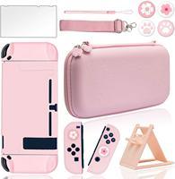 10 в 1 розовый чехол для путешествий Портативная сумка для Nintendo Switch с жестким защитным чехлом ультратонкая Защитная пленка для экрана