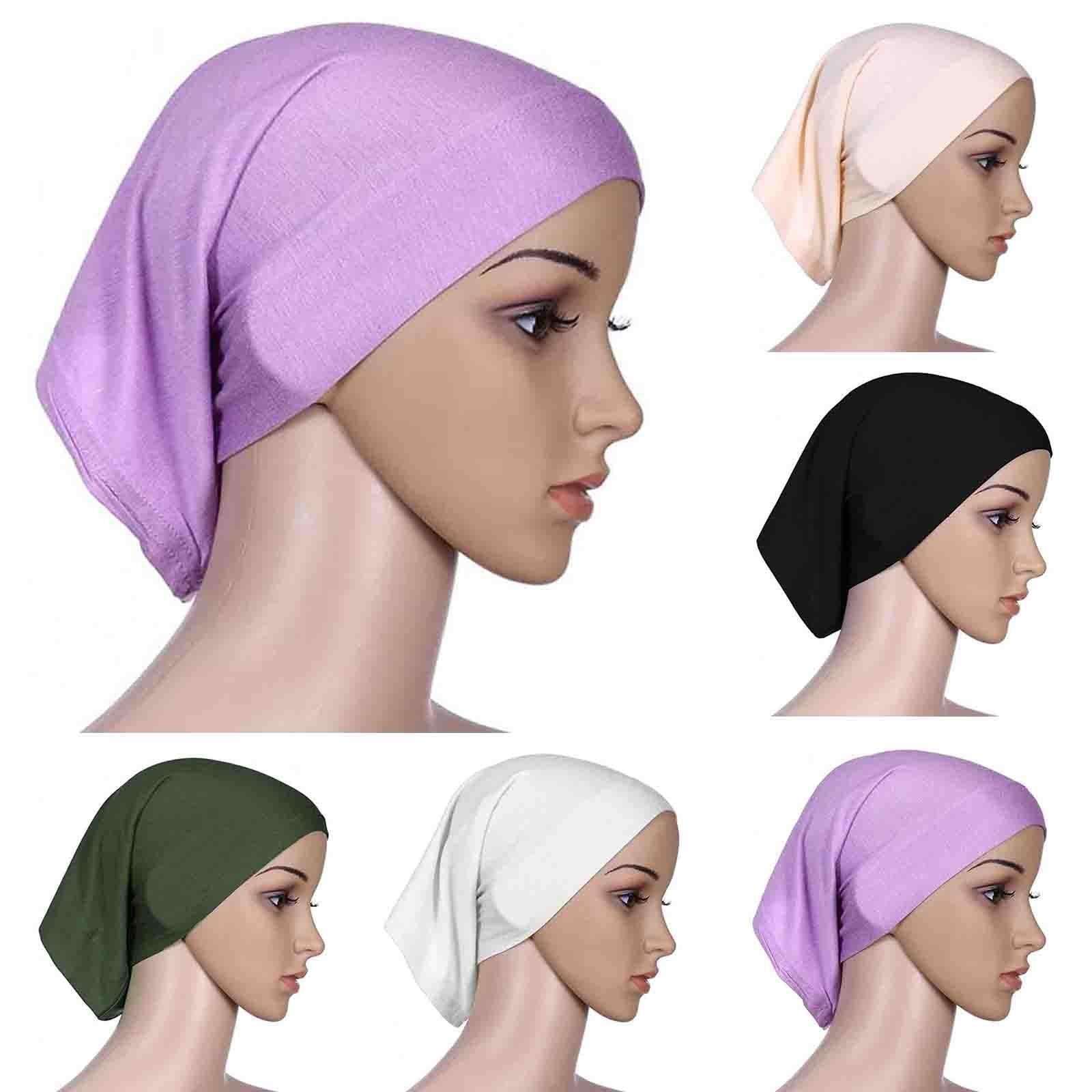 New Muslim Women Stretch Sleep Chemo Hat Beanie Sleep Turban Headwear Cap Head Wrap for Cancer Hair