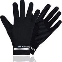 Перчатки с длинными пальцами мужские и женские, черные митенки, ветрозащитные спортивные Нескользящие велосипедные перчатки для сенсорног...