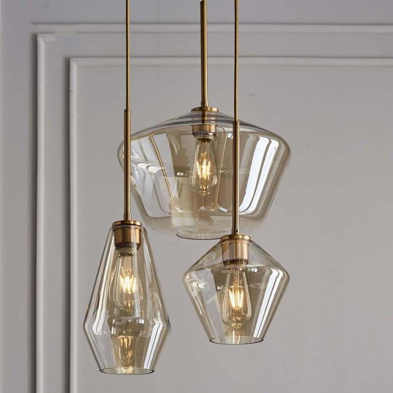 Lámpara colgante y moderna de cristal Retro lámpara de tonos artistic... Bola...