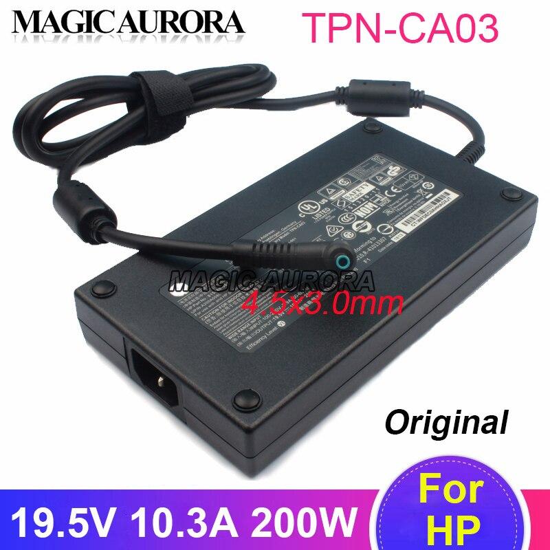 AC محول ل HP TPN-CA03 19.5V 10.3A 4.5x3.0 مللي متر فأل 15-dc0200 15-dc0000 15-dc0400 15-dc0100 ZBook 17 G3 شاحن للكمبيوتر المحمول 200W