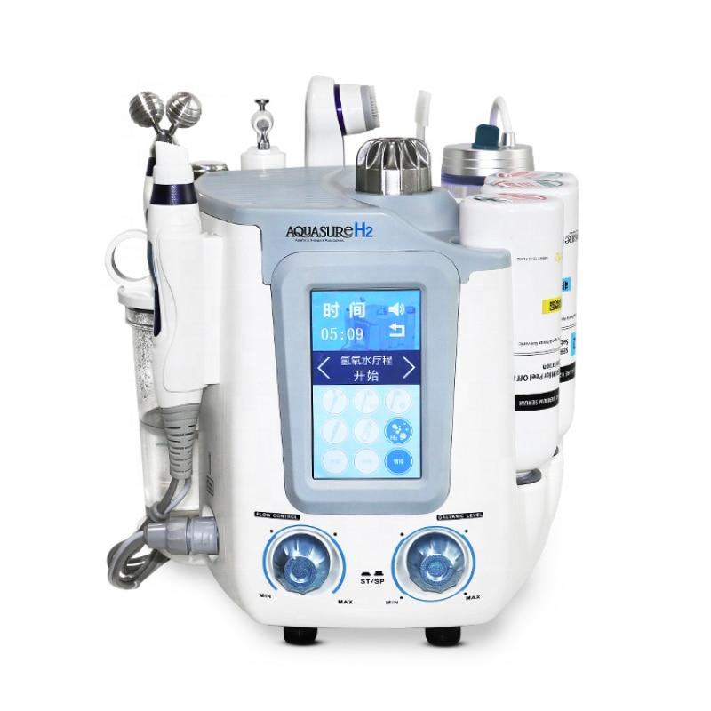 CE كوريا 6 في 1 الهيدروليكية أكوا H2 بيو بالموجات فوق الصوتية RF تقشير الجلد تشديد المياه الأكسجين ماكينة تجميل الوجه