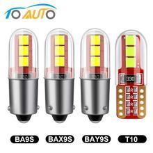 T10 BA9S T4W LED BAX9S H21W BAY9s W5W 194 168 żarówki LED 3030 chipy błąd Canbus darmowa lampa samochodowa 12V samochód wnętrza światło bagażnika