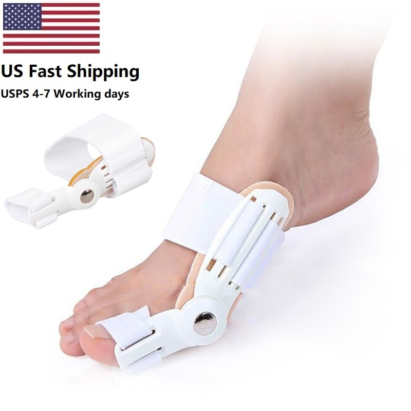 США 2 шт. защита для ног Уход за ногами педикюр инструмент Bunion Hallux вальгусный корректор ортопедические принадлежности большой носок шина выпрямитель