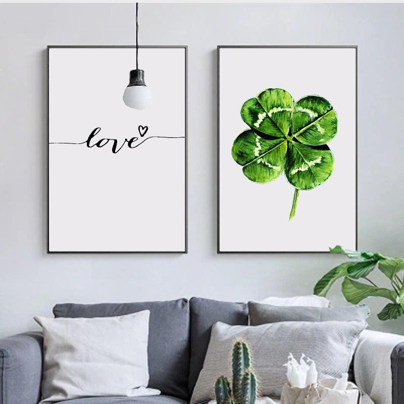 Toile de décoration de noël, affiches, plantes vertes, tableau dart mural pour salon, décoration de maison