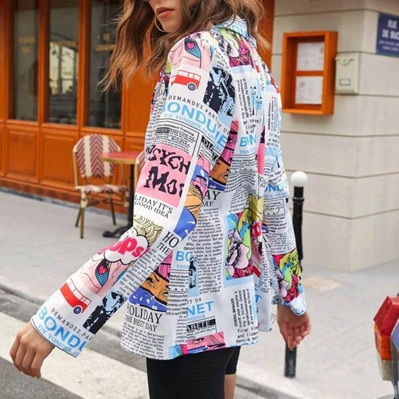 H2bb1fcb2528345e6ba7dc3d9ebbbd73fP Fashion Trend Women Lapel Leopard Print Long Sleeves Suit Jacket Elegant Fall Winter Office Lady Cardigan Coat Casual Streetwear