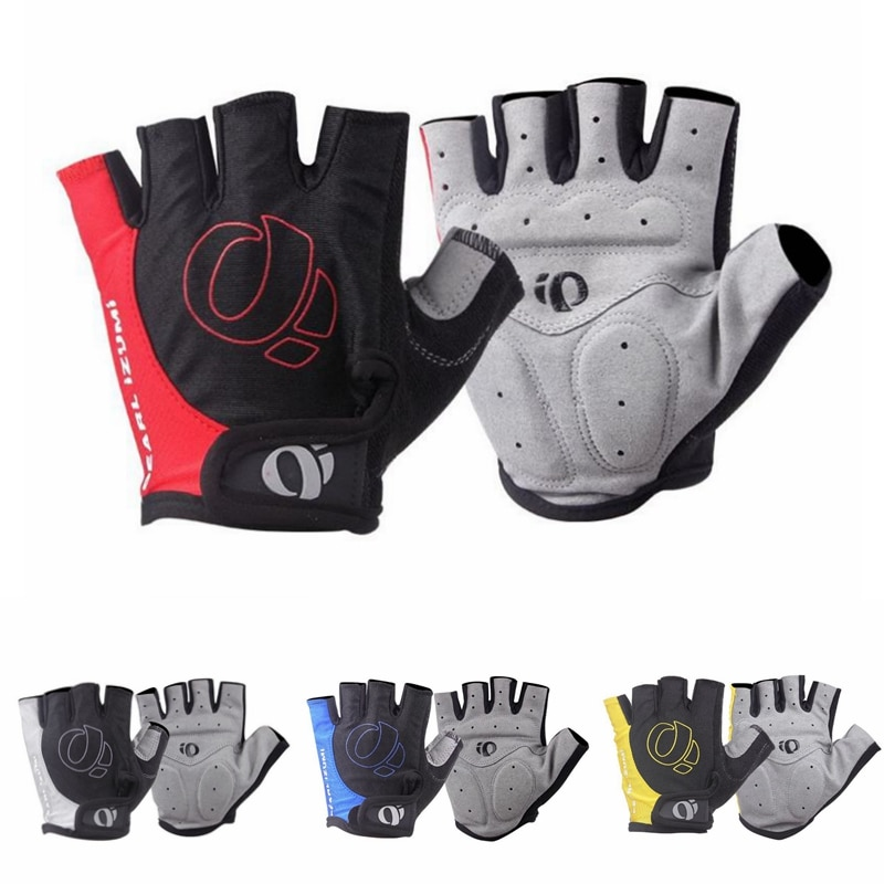 1Pair Gel Half Finger Cycling Gloves Anti-Slip Anti-sweat Bicycle Left-Right Hand Gloves Anti Shock MTB Road Bike Sports Gloves breathable cycling gloves road bike gloves men sports half finger anti slip bicycle mtb road bike gloves