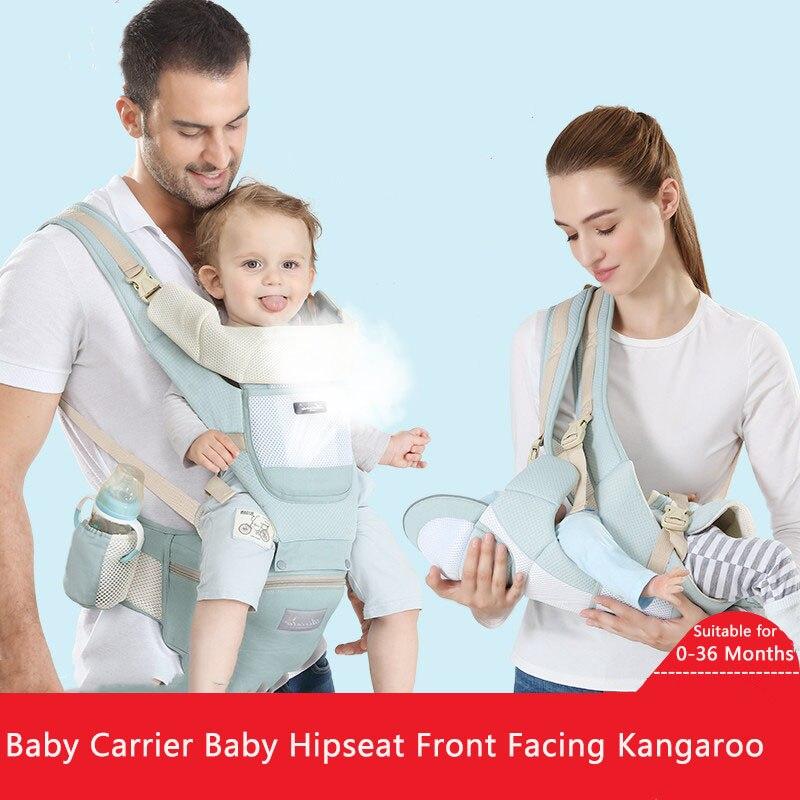Новая переноска для малышей, переноска на бедрах для младенцев, переноска на переднюю сторону, кенгуру, мягкая дышащая, регулируемая, для пу... рюкзаки кенгуру evenflo переноска active
