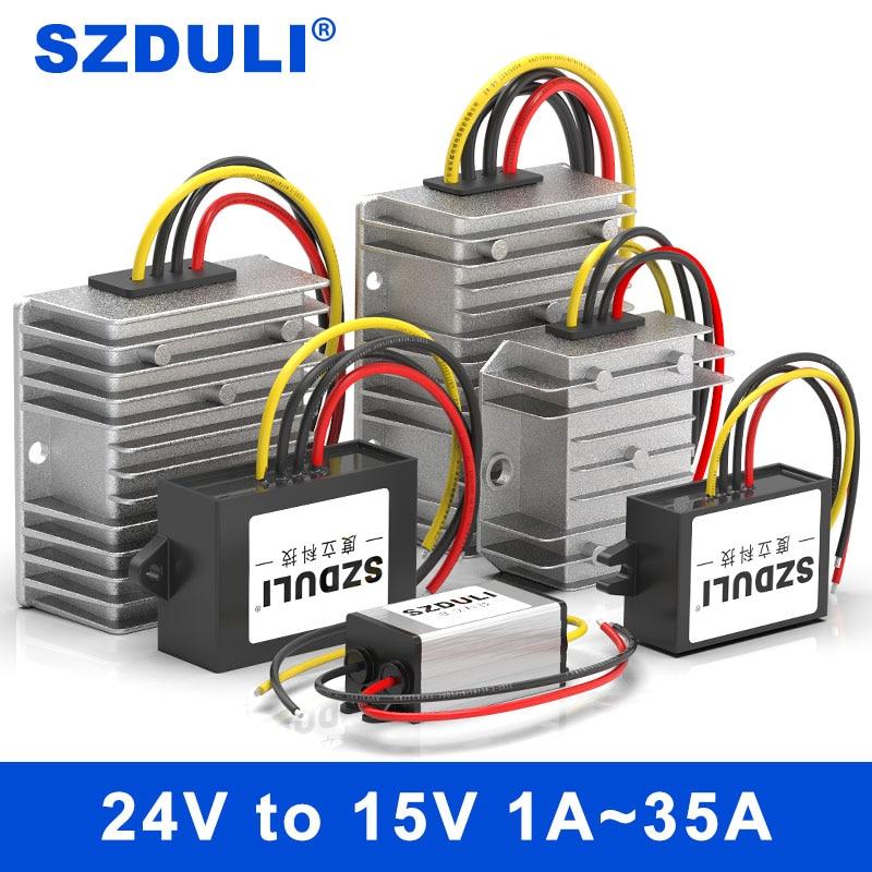 SZDULI 24V إلى 15V 1A 3A 5A 8A 10A 15A 20A 30A 35A DC DC تحويل تنحى 18-40V إلى 15V ينظم محول الجهد