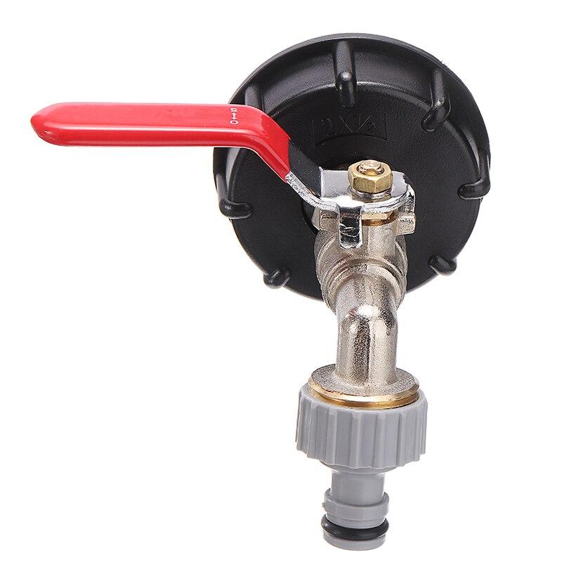 Adaptador IBC de 1/2 pulgadas, Conector de tanque de agua de jardín, adaptador de tanque de agua de lluvia, conectores de agua de jardín