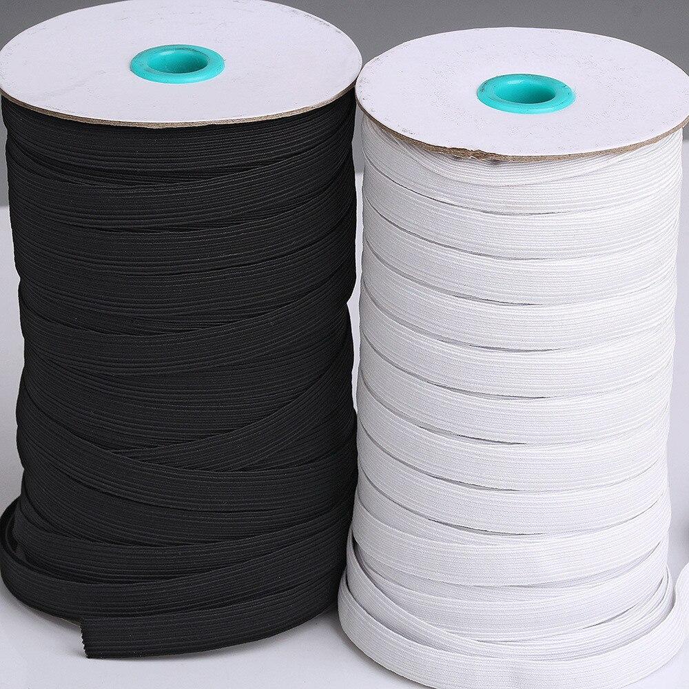 10 metros branco preto elástico banda redonda elástico corda elástico elástico linha elástica diy costura acessórios boca máscara elástico banda máscara