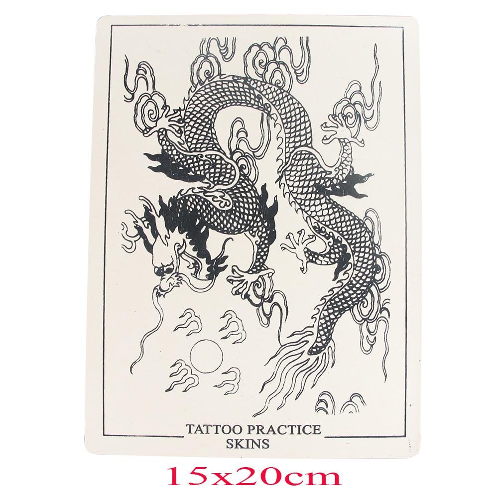 Estigma tatuagem prática de borracha de couro sobrancelhas lábios prática pele dragão tigre lótus peixe figura sílica gel pele prática