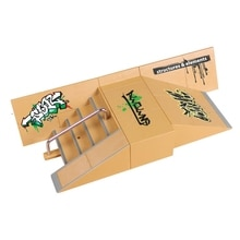 Mini Kits de rampe de parc de patin de doigt de mode pluie planche à roulettes doigts accessoires dentraînement jeux enfants jeu de jouets de Sport extrême dintérieur