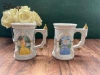 disney fashion ceramic mug simple cute cartoon anime princess coffee cup milk cup water cup collection cup