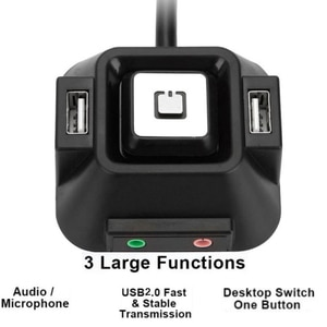 Multifunctional USB 2.0 Computer PC Switch External Power On/Off Reset Button With Audio Microphone Port for Hotel PC Switches
