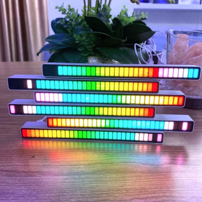 2021 Voice Control Pickup Rhythm Light Music Atmosphere Light Car Desktop LED Color Light Night Lights Lamp Motion Sensor Light enlarge