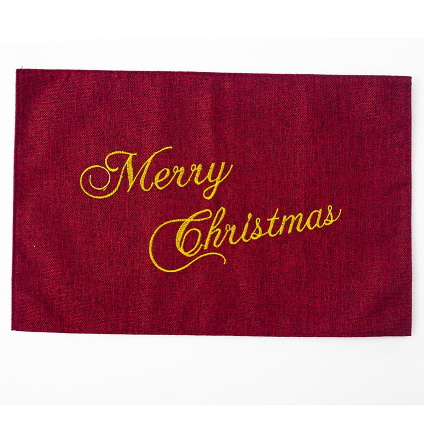Купить с кэшбэком Christmas Placemats, Table Mats, Placemat Non-Slip Washable Place Mats, Heat Resistant Kitchen Tablemats for Dining Table