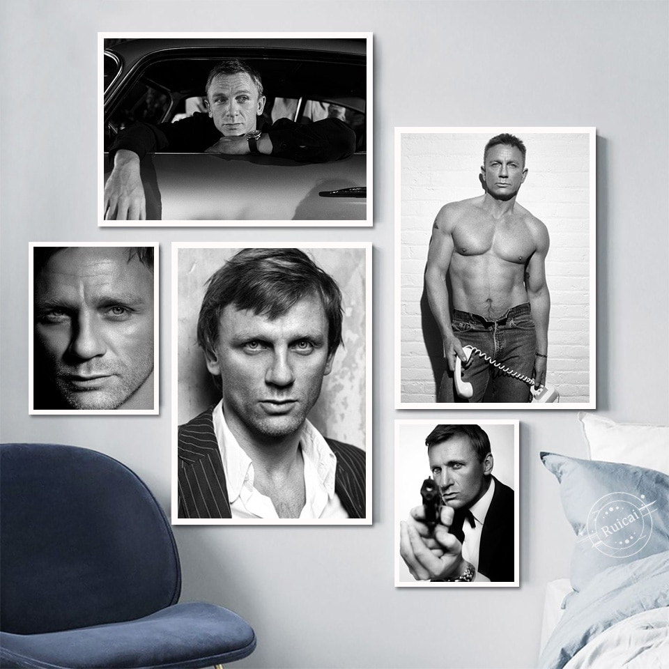 Daniel Craig Poster Bond James 007 Canvas Painting Prints Wall Art Picture Home Decoration Cuadros