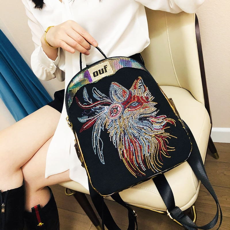 Women High Quality Artificial Leather Backpack Female Casual Fashion Animal Prints Shoulder Bag Feminine Daily Daypack