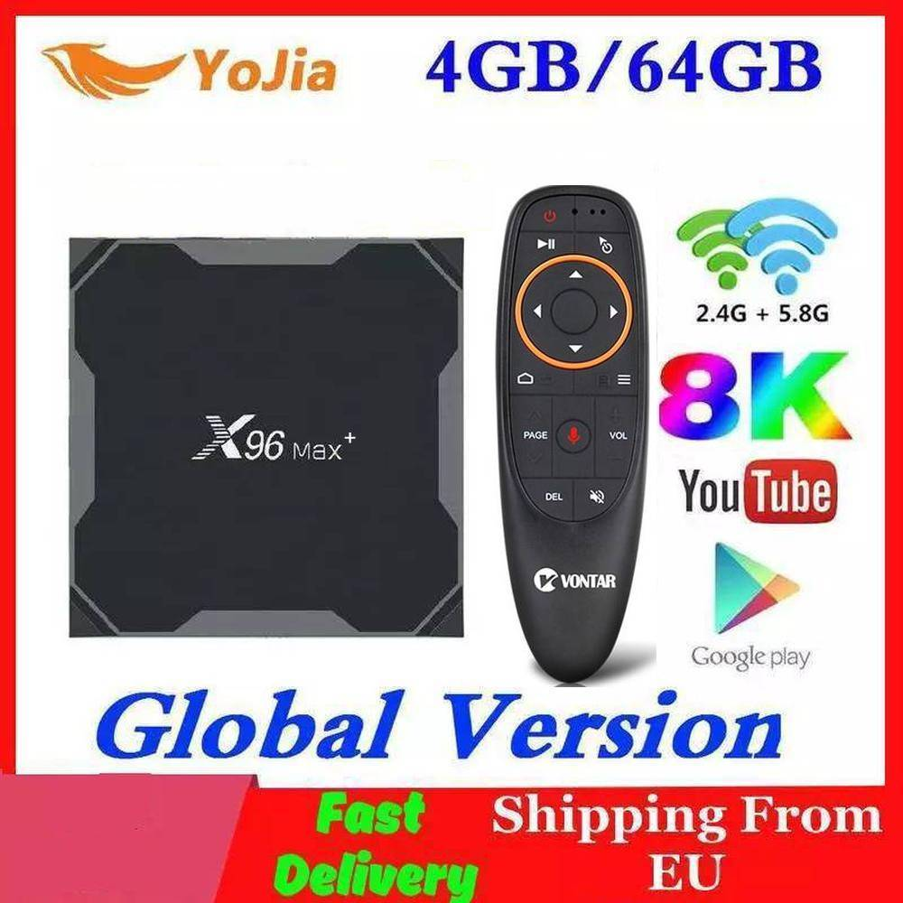 1000M أندرويد 9.0 صندوق التلفزيون X96 ماكس زائد Amlogic S905x3 8K مشغل الوسائط الذكية 4GB RAM 64GB ROM X96Max مجموعة صندوق فوقي QuadCore 5G واي فاي