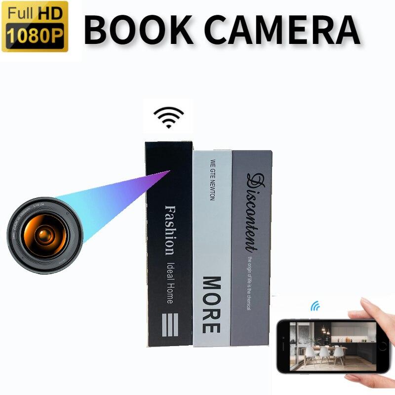 1080P كامل HD كاميرا صغيرة كاميرا مع واي فاي اللاسلكية محاكاة كتاب كاميرا كتاب كام IP P2P كاميرا مراقبة للمنزل مربية كام