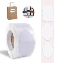 Etiquetas adhesivas personalizadas impermeables, etiquetas blancas en blanco, extraíbles, para organizador de tarros de albañil, 300 Uds.
