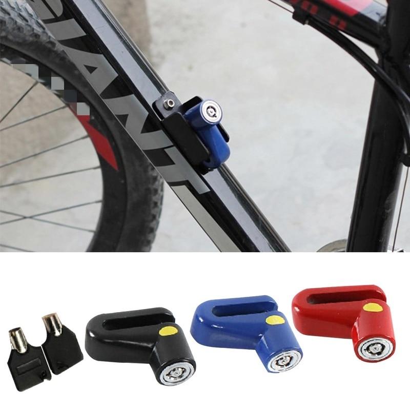 1 unidad de bloqueo de Rotor de freno de disco antirrobo para bloqueo de seguridad en bicicleta de Scooter para accesorios de ciclismo de motocicleta al aire libre